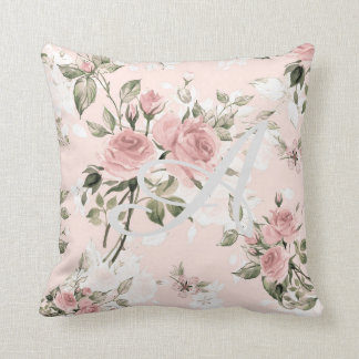 Shabby chic, french chic, vintage,floral,rustic,pi throw pillow