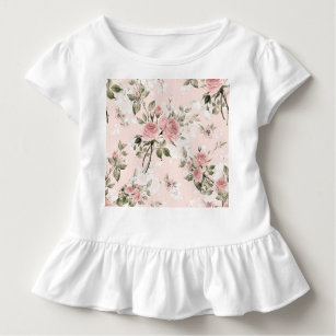 Shabby chic, french chic, vintage,floral,rustic,pi toddler t-shirt