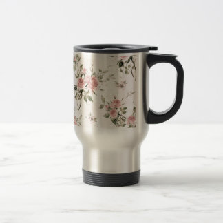 Shabby chic, french chic, vintage,floral,rustic, travel mug