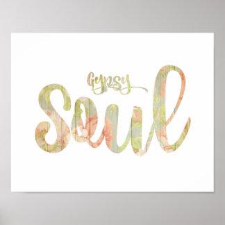 Shabby Chic 'Gypsy Soul' Poster