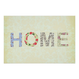 Shabby Chic Home Decorative cream Poster