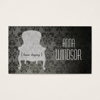 Shabby Chic Home Staging Business Card - landscape
