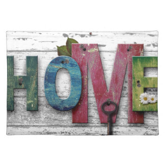 Shabby Chic Home Words On Wood Placemat