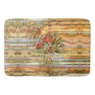 Shabby Chic Hummingbird Flight Bath Mat