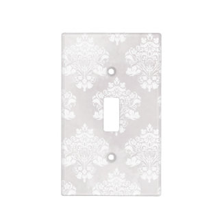 Shabby Chic Ivory Damask Light Switch Cover