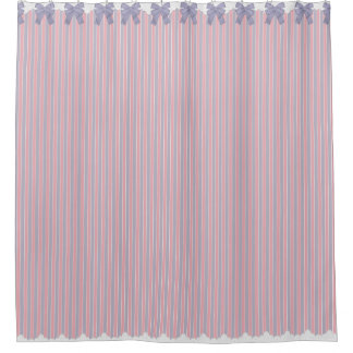 Shabby Chic Lilac & Pink Stripes w Bows & Lace