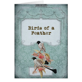 Shabby Chic Love Birds II Card