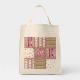 Shabby Chic Monogram Patchwork Tote Bag