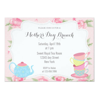 Shabby Chic Mother's Day Brunch Invitation Pink