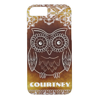 Shabby Chic Owl Lace Custom Cell Phone Case