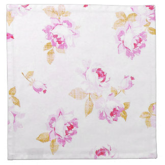 Shabby Chic Pale Pink Rose Cloth Napkin
