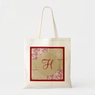 Shabby Chic Patchwork 2 Monogram Bag