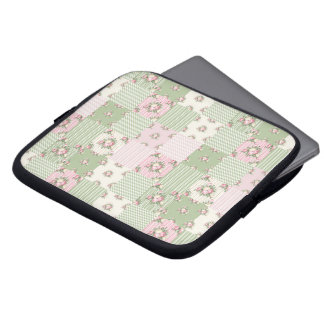 Shabby Chic Patchwork Notebook Bag Laptop Sleeve