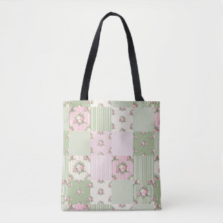 Shabby Chic Patchwork Tote Bag