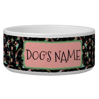 Shabby Chic Personalized Pet Bowl