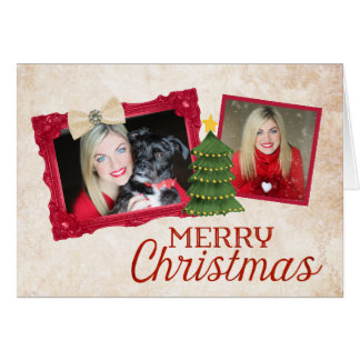 Shabby Chic Photo Christmas Card