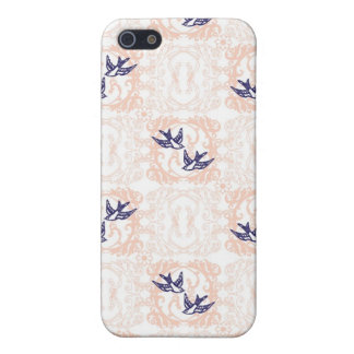 Shabby Chic pink and navy iPhone 5/5S Cover