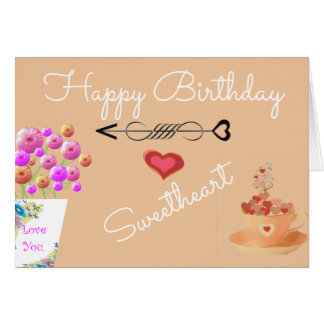 Shabby Chic Pink Floral Birthday Card