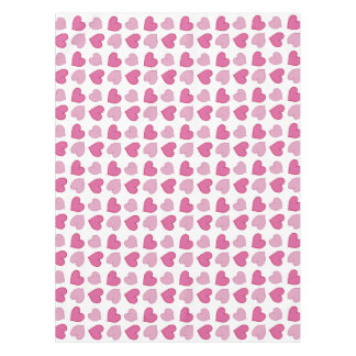 Shabby Chic Pink Hearts Table Cloth Tablecloth