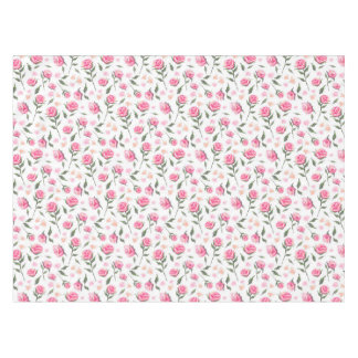 Shabby Chic Pink Roses Pretty Table Cloth