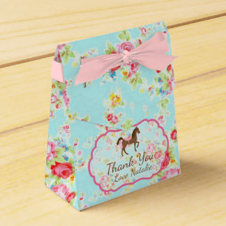 Shabby Chic Pony Floral Favor Box