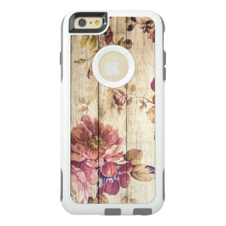 Shabby Chic Romantic Roses on Wood OtterBox iPhone 6/6s Plus Case