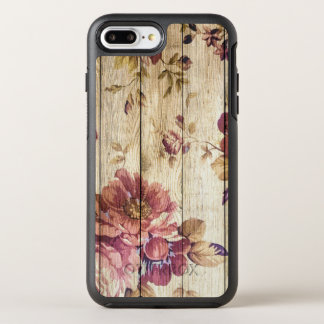 Shabby Chic Romantic Roses on Wood OtterBox Symmetry iPhone 7 Plus Case