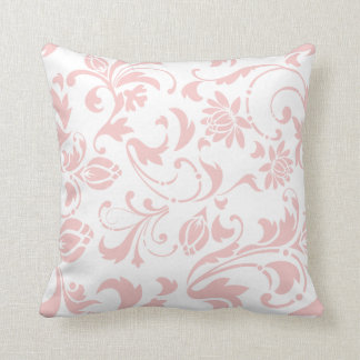 Shabby Chic Rose Quartz Modern Floral Pattern Throw Pillow
