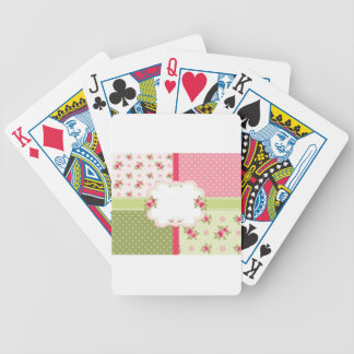 shabby chic roses bicycle playing cards