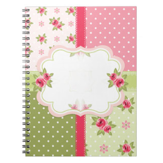 shabby chic roses notebook
