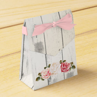 Shabby Chic Roses & Rustic Cottage Barn Wood Wedding Favor Boxes