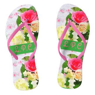 Shabby chic sandals flip flops