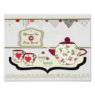 Shabby Chic Style Kitchen Wall Decor Cup of Tea