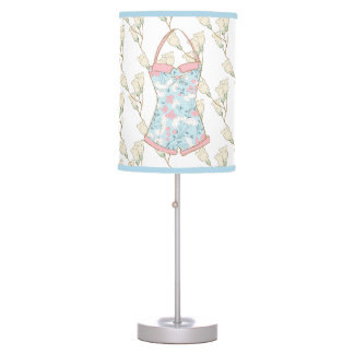 Shabby Chic Summer Soft Blue Table Lamp