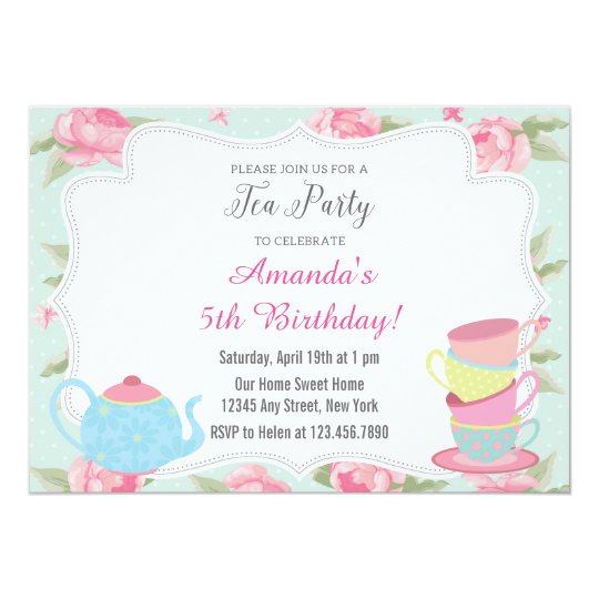 Shabby Chic Tea Party Invitation