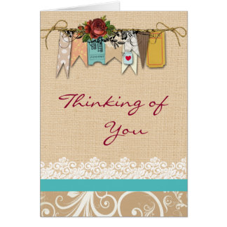 Shabby Chic Thinking of You Greeting Card