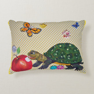 Shabby Chic Turtle Pillow for Nursery or Kids