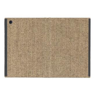 Shabby Chic Tweed Rustic Burlap Fabric Texture iPad Mini Cases