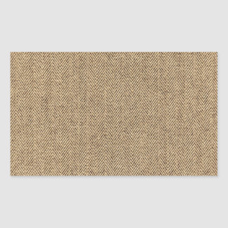 Shabby Chic Tweed Rustic Burlap Fabric Texture Sticker