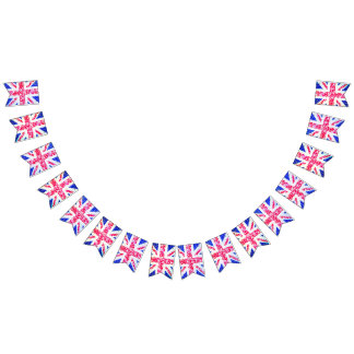 Shabby Chic. Union Jack. Bunting Flags