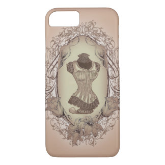 shabby chic victorian floral wreath vintage corset iPhone 7 case