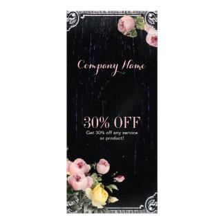 Shabby Chic vintage botanical floral chalkboard Rack Card