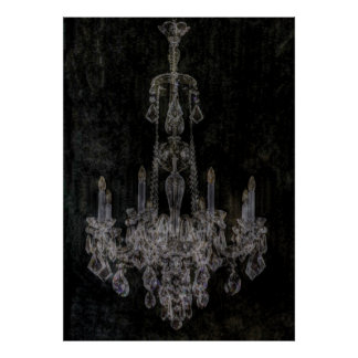 Shabby Chic Vintage Chandelier Print