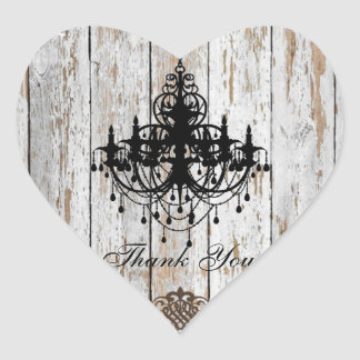 shabby chic vintage country wedding favor heart sticker