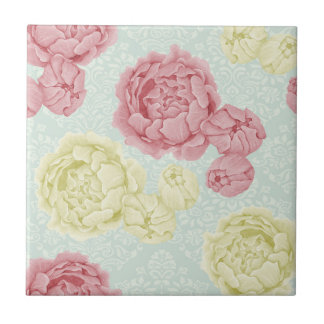 Floral tiles floral ceramic tiles for Shabby chic wall tiles