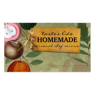 shabby chic vintage fruits cooking baking biz card business card template