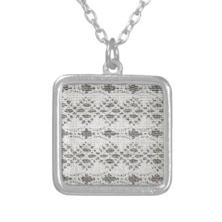 Shabby Chic Vintage Lace Designs Silver Plated Necklace