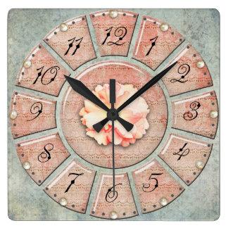 Shabby Chic Vintage Rose Clock