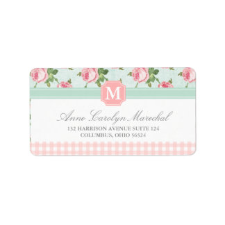 Shabby & Chic Vintage Rose Floral Personalized