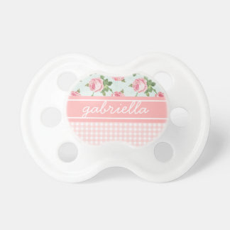 Shabby & Chic Vintage Rose Floral Personalized Pacifier